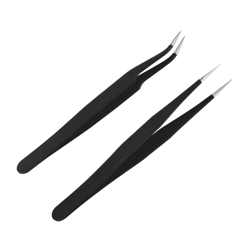 2pcs Scrapbooking Tweezers Stencils Paper Quilling Tool Straight Angle Point Tweezers DIY Handmade Gift Card Photo Album Helper