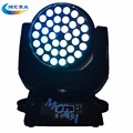 4 pçs/lote Led 36 x 18 w rgbwy + UV Led Moving Head Zoom luz Stage Lighting Effect