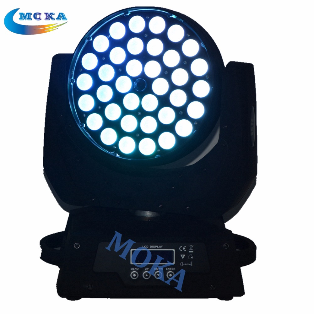 4pcs/lot Led 36x18w rgbwy + UV Led Moving Head Zoom Light Stage Effect Lighting