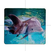 MaiYaCa Vintage Cool Dolphins Panda Comfort Mouse Mat Gaming Mousepad Large Thicken Comfy Waterproof Gaming Rubber Mouse Pad