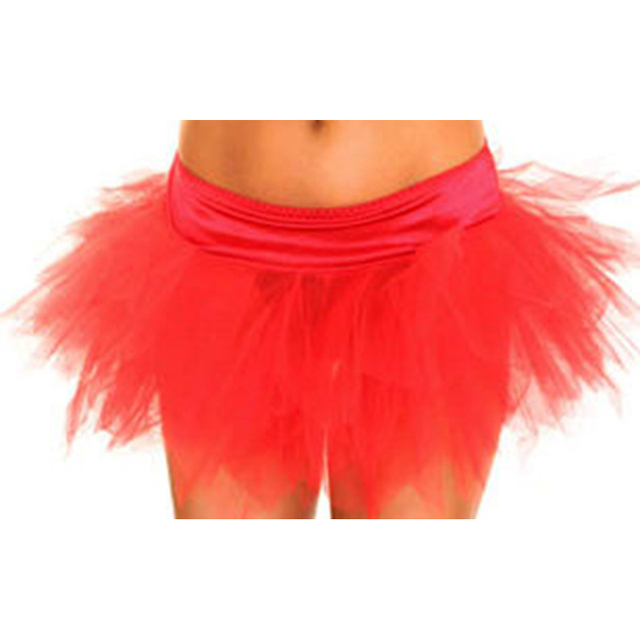 Red Fluffy Teenage Girl Adult Women Gothic Layered Mesh Satin Pettiskirt  Tutu Skirt Party Dance Performance lolita 97dabe40bbdd