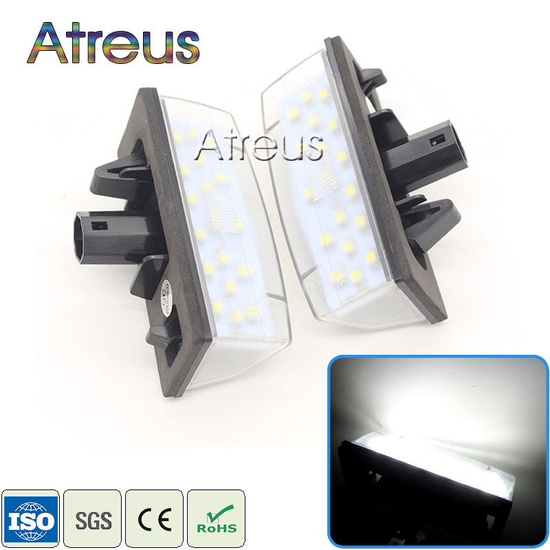2X Car LED License Plate Lights 12V SMD3528 LED Number Plate Lamp Bulb Kit For Toyota Prius ZVW30 Venza Matrix For Lexus CT200H