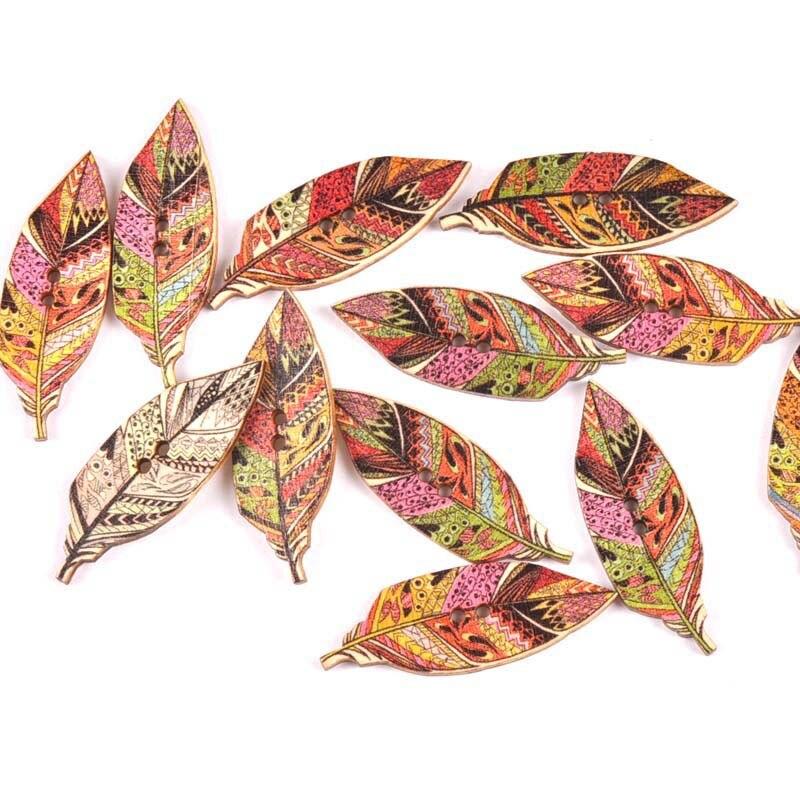 20 шт./лот ручная работа деревянные пуговицы окрашенные Швейные аксессуары популярные швейные изделия - Цвет: 15