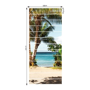 Image 5 - Sea Beach Coconut Tree Seaside Modern Scene Home Decal Wall Stickers Children Kids Room Decoration Stickers Stairs Decor