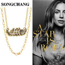 Movie A Star Is Born Same Style Necklaces Heroine Esther Hoffman Pendants Chokers Women Fashion Party Jewelry High Quality(China)