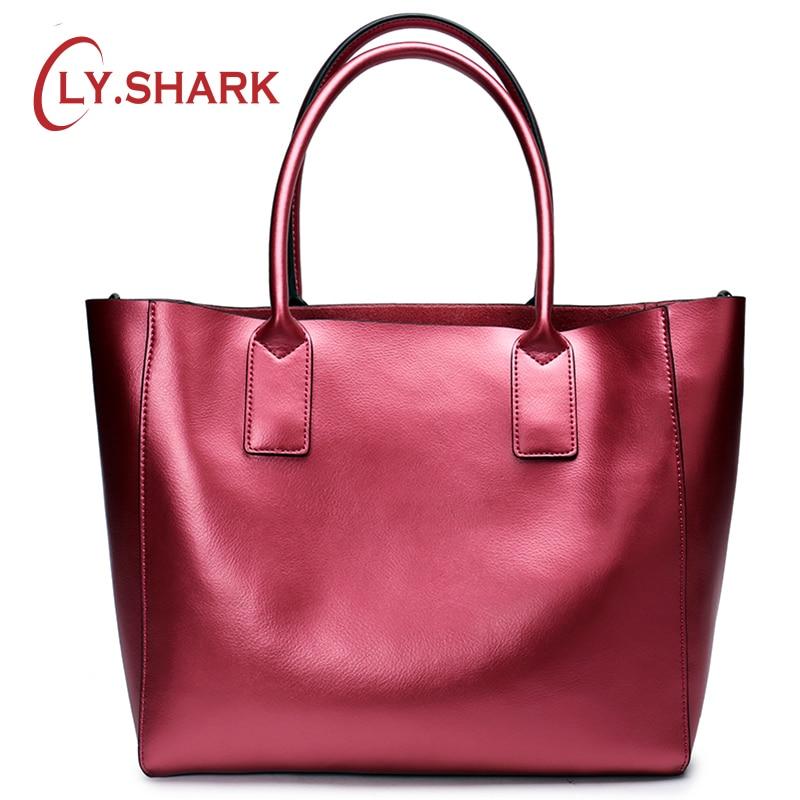 купить LY.SHARK Female Bag Ladies Genuine Leather Women Bag Shoulder Messenger Bag Women Handbag Big Famous Brand Designer Fashion Tote по цене 3313.52 рублей