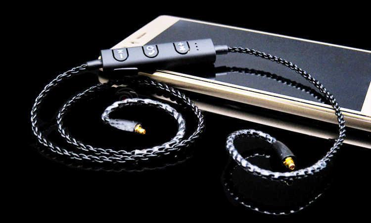 Kabel Bluetooth APTX dla Shure SE215 SE535 UE900 TF10 słuchawki kabel do SENNHEISER IE80 IE8I W4R IM50 LS400 Z5 A2 h3 XBA300AP