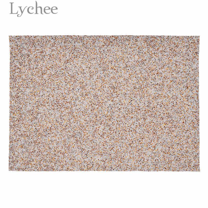 Lychee 15x21 cm A5 Brillante Chunky Faux DELL'UNITÀ di ELABORAZIONE Del Tessuto di Alta Qualità Per Cucire In Pelle Sintetica Materiale FAI DA TE Per La Borsa capi di abbigliamento