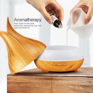 Image 5 - Kbaybo umidificador de ar elétrico, 400ml, difusor de aroma óleo essencial, ultrassônico, de madeira, controle remoto, misturador para casa