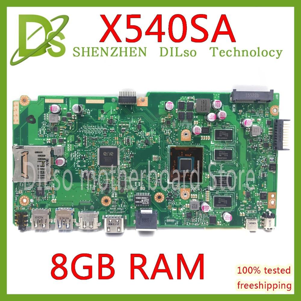 KEFU X540SA For ASUS X540SA F540S Laptop motherboard X540SA mainboard REV2.1 N3700U/N3050U processor original motherboard Test шариковая ручка visconti divina royale черный вставки кристаллы сваровски vs 375 02