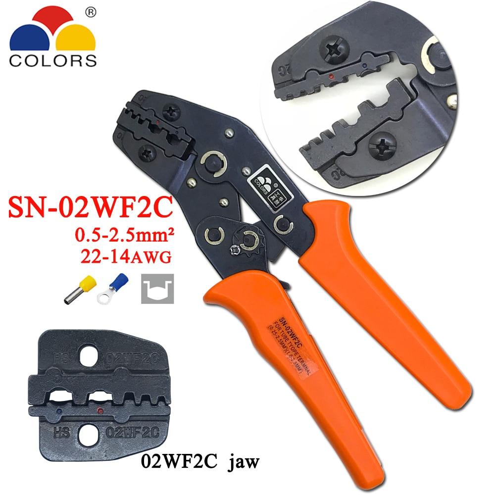 Handwerkzeuge Kompetent Farben Sn-02wf2c Crimpen Zange 0,5-2.5mm2 20-13awg Europäischen Stil Für Rohr Terminals Und Isolierung Klemmen Klemme Hand Werkzeuge Zangen