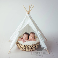 Newborn Baby Photography 100% Handmade Round Wooden Basket Props Little Baby Girl Boy Photo Shoot Wood Box bebe fotografia Props