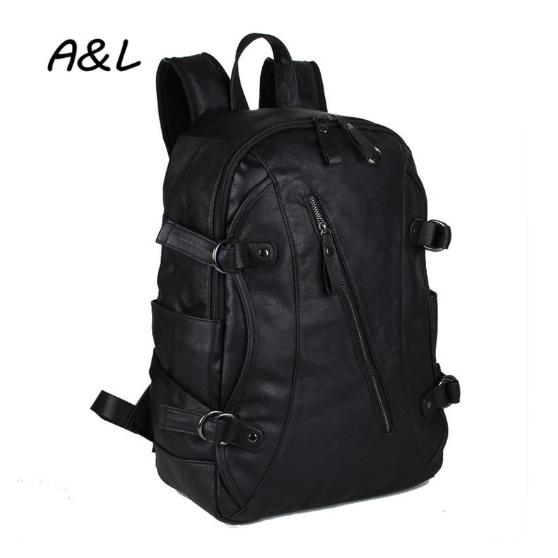 2019Men Leather Backpack Mote Fritid Utendørs Reise Mountaineering - Ryggsekker