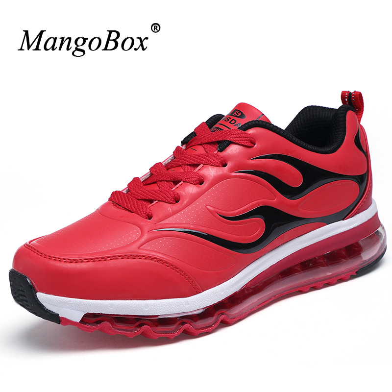 2016 Mens Sports Shoes Air Red Walking Shoes Damping Gym Sneakers Male Blue Athletic Sneakers Hot Autumn/Winter Running Trainers