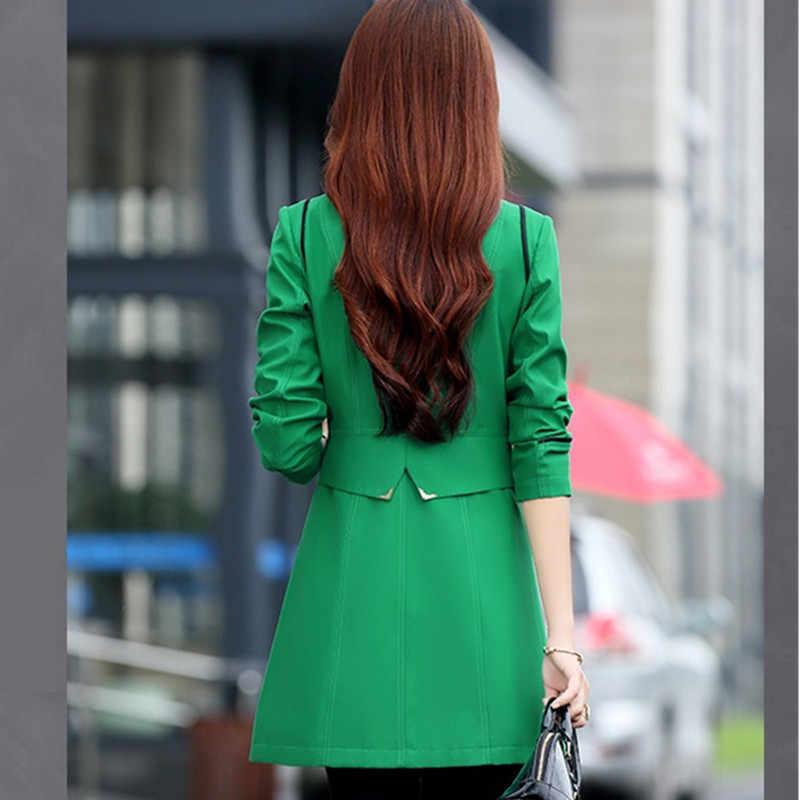 YAGENZ Bahar Sonbahar Rüzgarlık Ceket Bayan Artı boyutu Iç Çamaşırı Kadın Trençkot Moda Kruvaze Casual stil 989