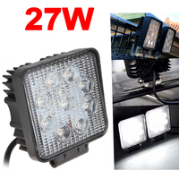 4 Inch 1800LM 27W Off Road Car LED Work Light Waterproof Square Worklight Lamp For Auto