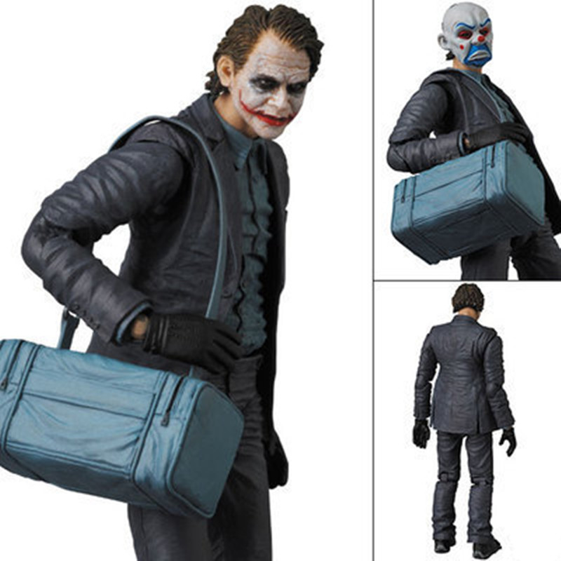 Justice League Batman The Joker Action Figure Toys Batman Suicide Squad Joker PVC Collectible Model  Toy 16cm black long sleeves pattern front crop t shirt