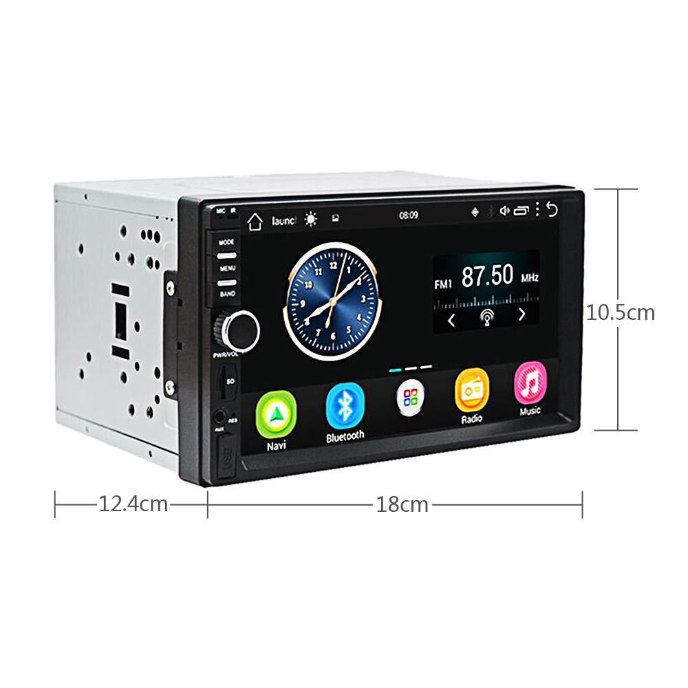 Podofo 7 ''Android Autoradio stéréo GPS Navigation Bluetooth USB SD 2 Din tactile voiture lecteur multimédia lecteur Audio Autoradio - 2