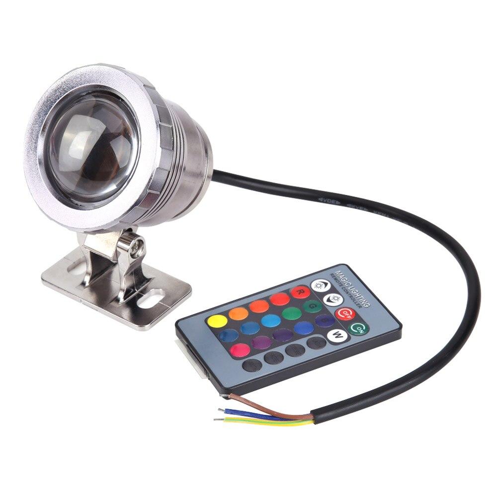 Прочный свет RGB для использования в грунтовых водах 16 Цвета 5 W AC/DC12V удаленного Управление Водонепроницаемый Садовый пруд Tank Фонтан свет светодиодный свет - Испускаемый цвет: Silver