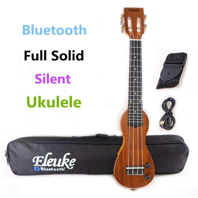 ukulele soprano 21 inches electric mahogany mini full solid bluetooth headphones silent hawaiian. Black Bedroom Furniture Sets. Home Design Ideas