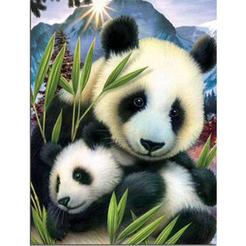 Craft 5d pittura diamante del panda della resina mosaico pittura diamante intero quadro di diamante cucito ricamo animale W364