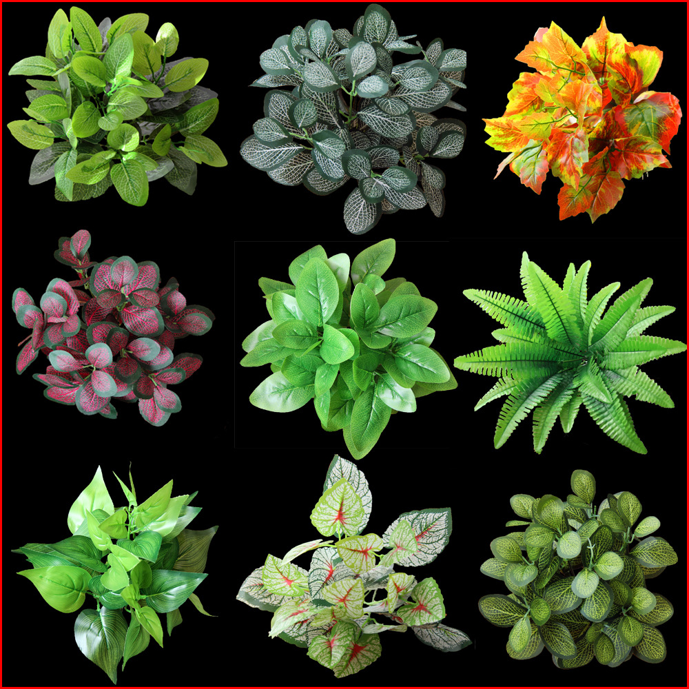 1PC Plastic Imitation Fern Green Grass Artificial Plants For Household Store Dest Rustic Decoration Clover Plant Wedding Flowers