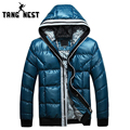 TANGNEST High Quality Men's Warm Fashion Hooded Outwearing Parka Thick New Design Winter 2017 Asian Size M-3XL Coat MWM1620