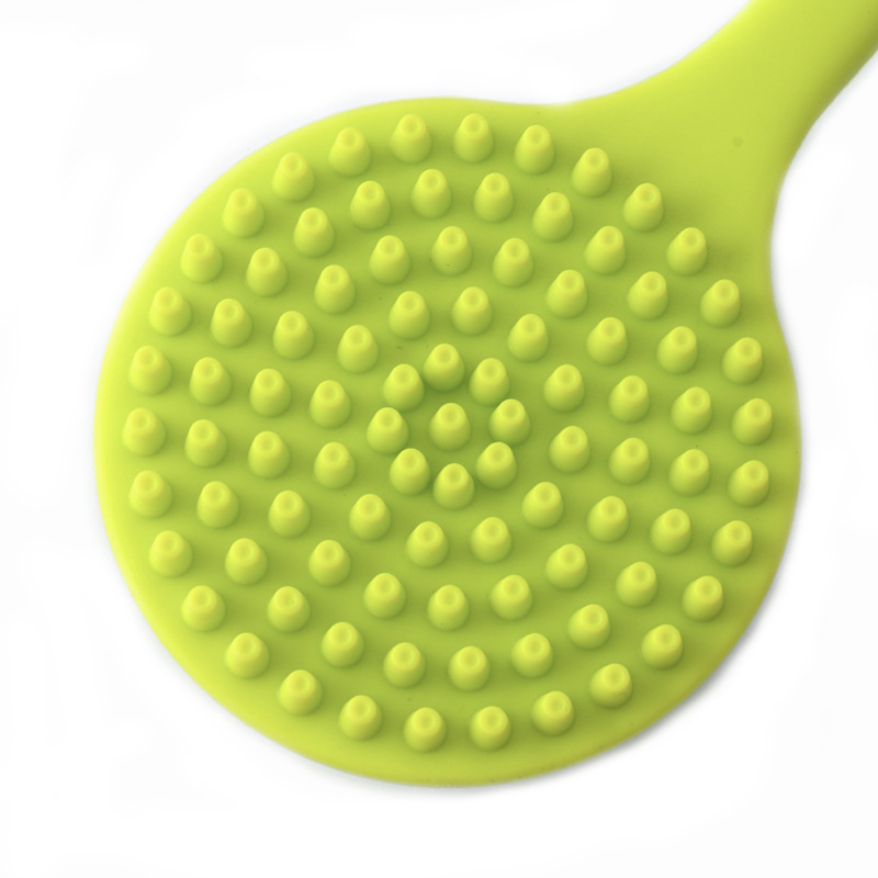 Soft Silicone Body Bath Shower Brush Back Scrubber Long Handle Skin Exfoliating Bathroom Hot Sale in Bath Brushes Sponges Scrubbers from Home Garden