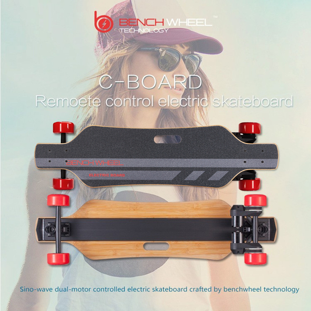 BENCHWHEEL electric skateboard  dual-motor drive sino-wave controlled skateboard on-road longboard