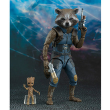 Marvel Guardians of the Galaxy Satr Lord Rocket Raccoon SHF Figuarts Toy Collection Model Brinquedos Figurals цена в Москве и Питере