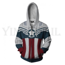 Men and Women Zip Up Hoodies The Avengers Hero Hooded Jacket Mravel Superheroes Sweatshirt Captain America Streetwear Costume