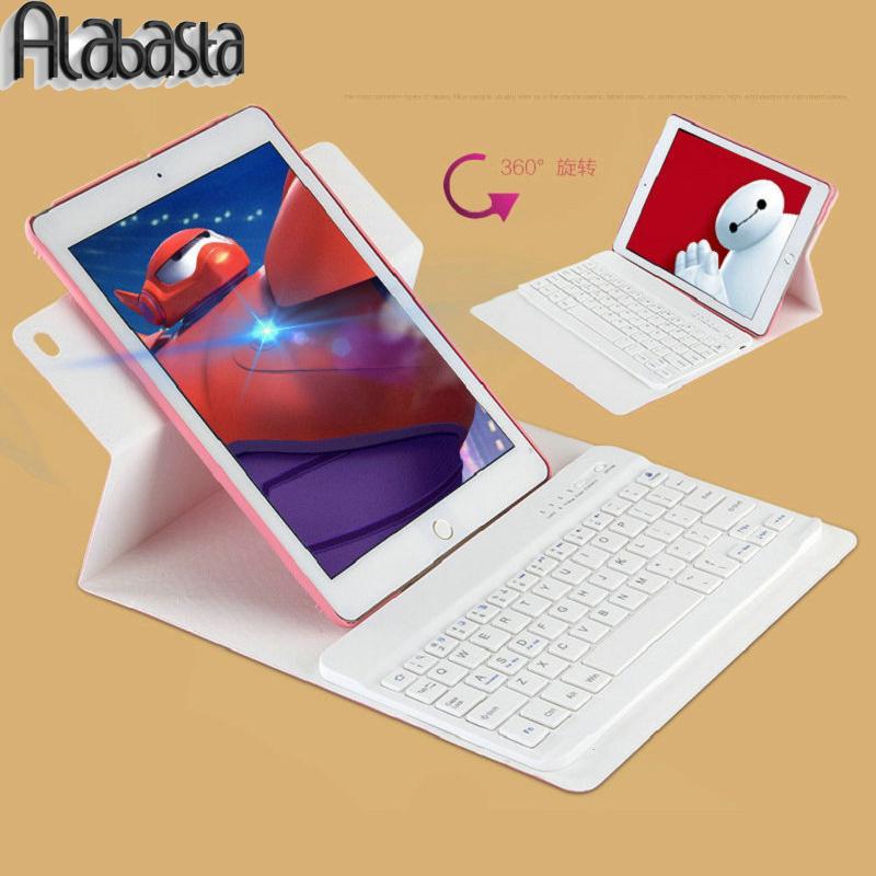 Prix pour Alabasta case pour ipad 5 6 360 degrés pivotant amovible sans fil bluetooth clavier stand case cover pour ipad air 1 air 2 shell