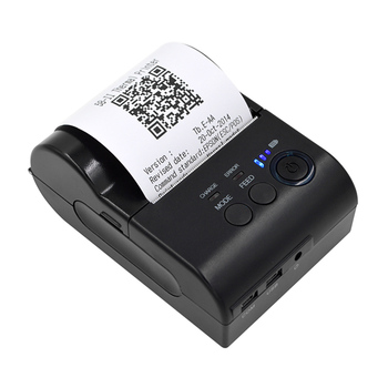 Bluetooth+USB 58mm Thermal Ticket Printer POS-5801DD Receipt Ticket Barcode Printer Support for IOS/Android/Windows