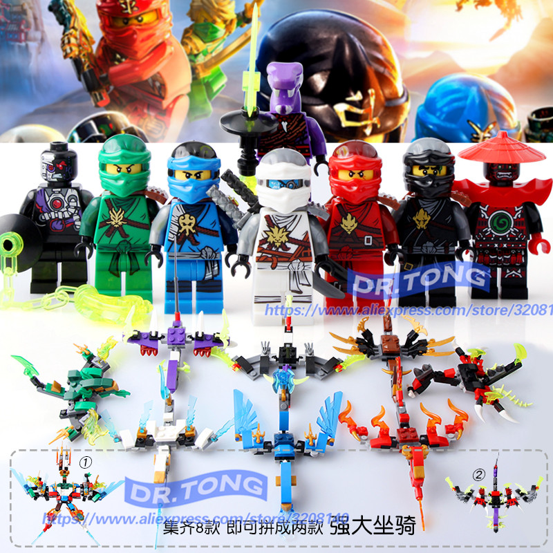 80PCS/LOT Ninja Cole Zane Samurai X NYA Jay Kai The Wei Snake Vermin Lloyd Master Wu Lady Dogshank Building Blocks Toys SY626 single sale super heroes ninja vermin the wei snake bronk zane bricks action figures building blocks toys for children pg1013