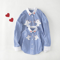 2017 Autumn Winter Family Clothes Mother Daughter Stripe Printed Lovely Han Edition Parent Child Children S