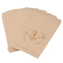 8 Designs Kraft Paper Deer Envelope Vintage European Postcard For Card Xmas Gift(China)