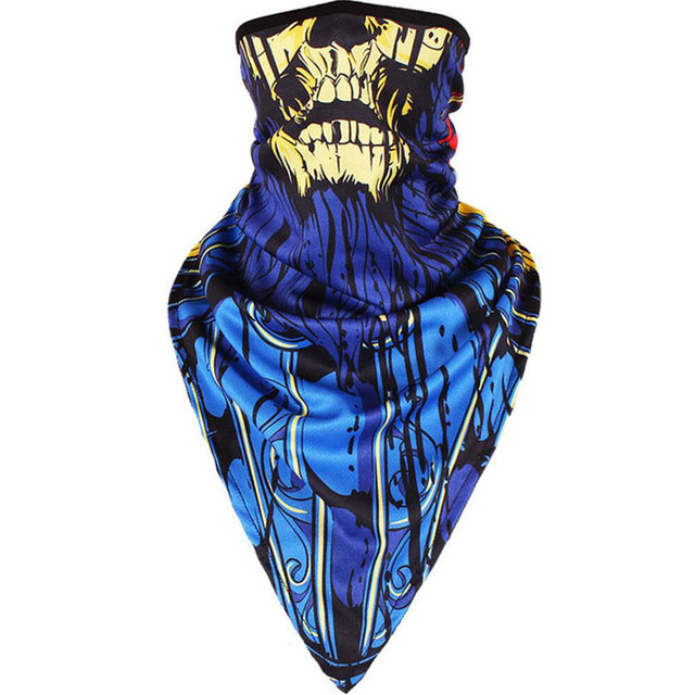 100pcs Cheap Skeleton Black Half Face Masks Scarf for Skiing Cycling Snowboard Men UV Protection Dustproof Ski Scarves Wholesale 1
