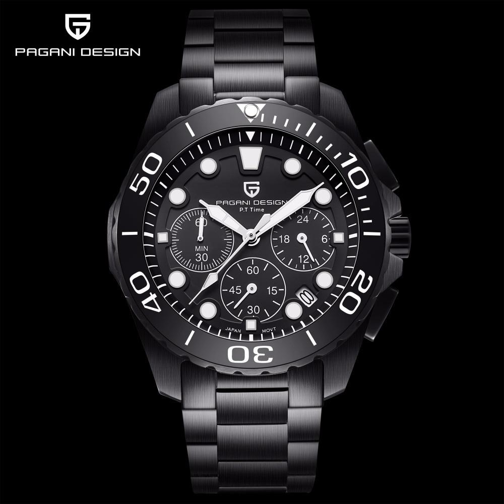 Pagani Luxury Quartz Men Watches Waterproof Sports clock Military Male wristWatch Business steel watch for men