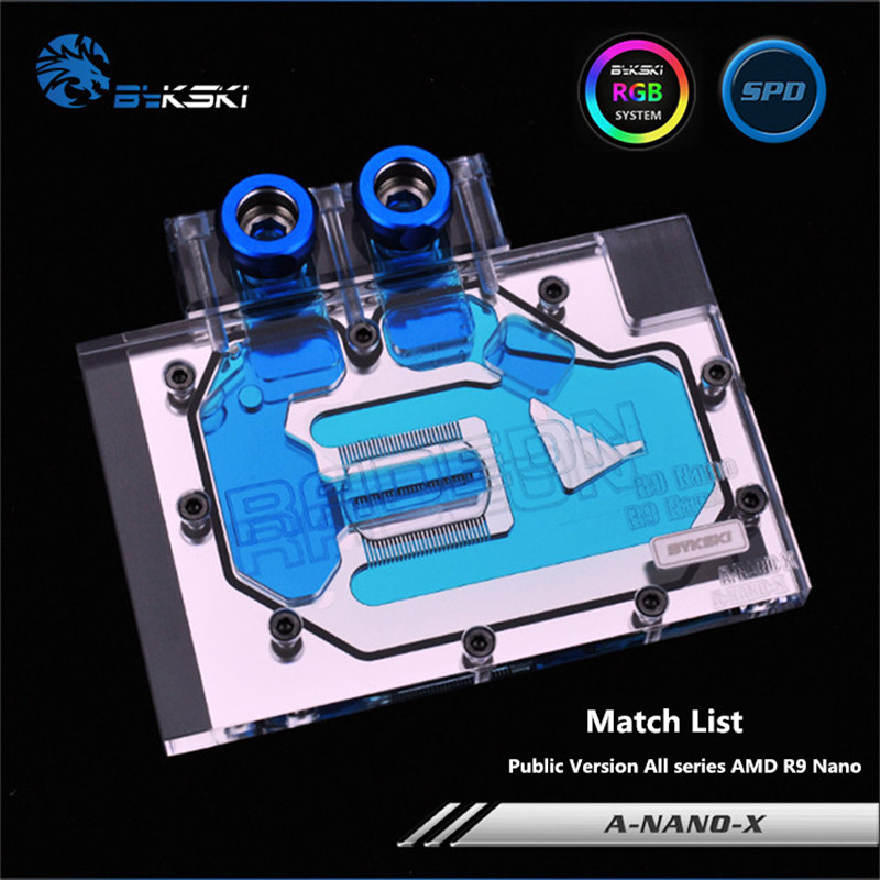 Bykski Full Coverage GPU Water Block For Public Version All series AMD R9 Nano Graphics Card A-Nano-X