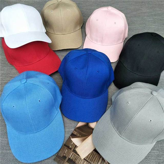 Plain Solid Color Baseball Cap Women Curved Visor Hat Adjustable Size Nylon  Fastener Tape Casual hats Men 09f5e438437