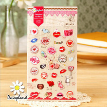 R35 Adorable Sexy Lip Heart Sticker Phone Diary Aibum Notebook DIY Craft Decor Stick Label Stationery Sticker Kids Gift