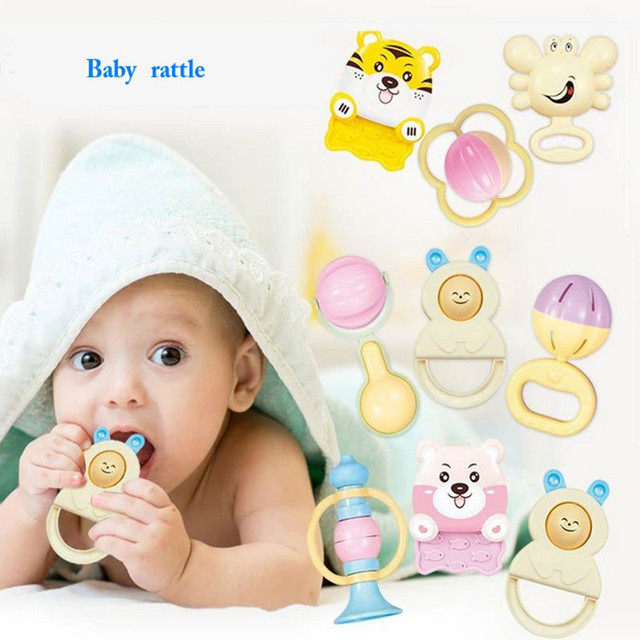 Pc Sets New Baby Toys Kids Rattle Toddler Infant Preschool Music Toy Plastic Educational Toys