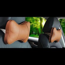 Genuine Breathable Leather Car Seat Neck Cushion