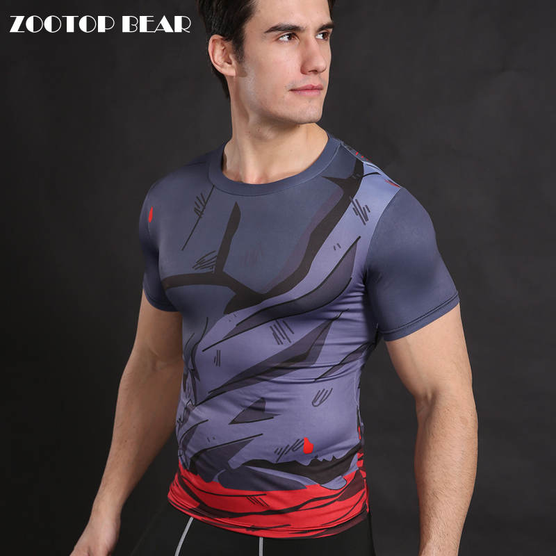 Dragon Ball Z T shirt Armor T-shirt Men Compression Shirt Fitness Bodybuilding Tops Male Fitness Tees Anime Camiseta ZOOTOP BEAR
