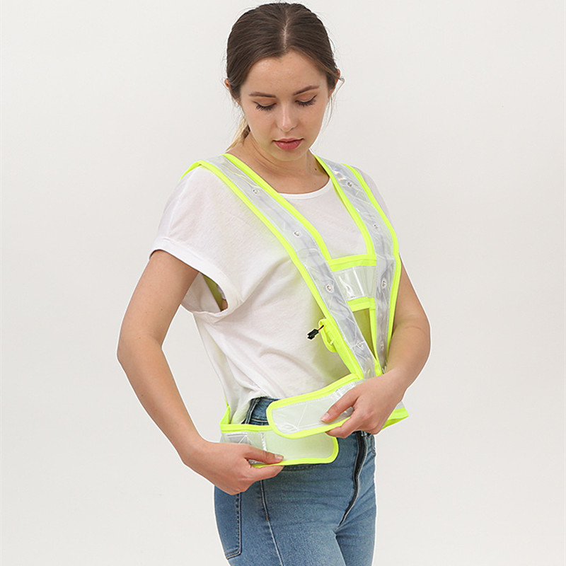 Image 4 - High Visibility LED Light Up Safety Reflective Vest Night Safety Warning Clothing Traffic led Safety Vest Reflective t shirt-in Safety Clothing from Security & Protection