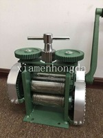 FREE SHIPPING Hand Operated Jewellers Roller Mill Rolling Mill Jewelry Making Tools With Gear Jewelry Making