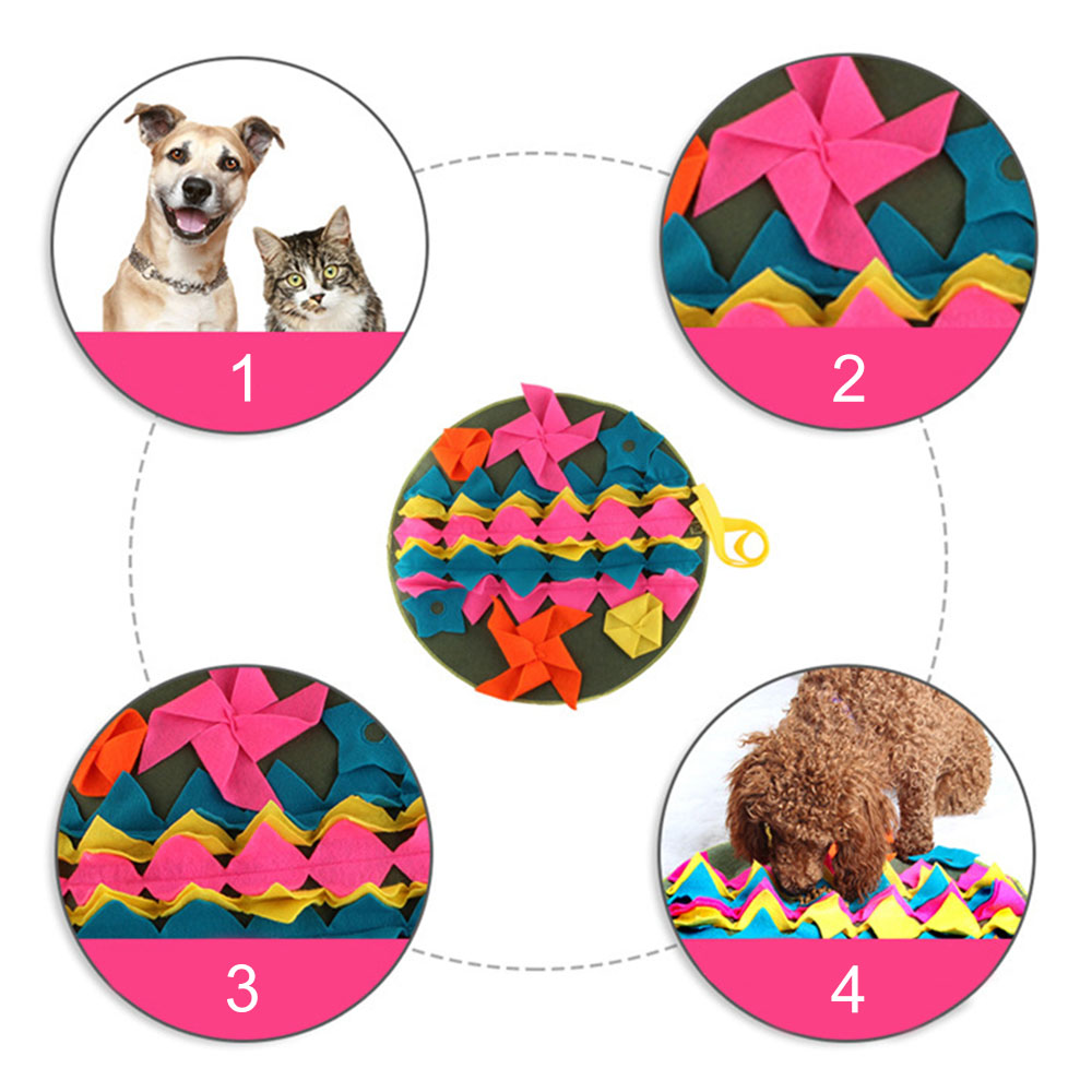 Pet Dog Sniffing Mat Find Food Training Blanket Play Toys Dog Mat For Relieve Stress Puzzle Sniffing Mat Pad 3