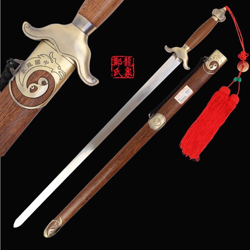 Ev ve Bahçe'ten Kılıçlar'de Çin Dövüş Sanatı Kılıç Paslanmaz Çelik esnek Bıçak Uygulama Için Bagua TaiJi Jian Ile Kayış Çanta Kung Fu Araçları'da  Grup 1