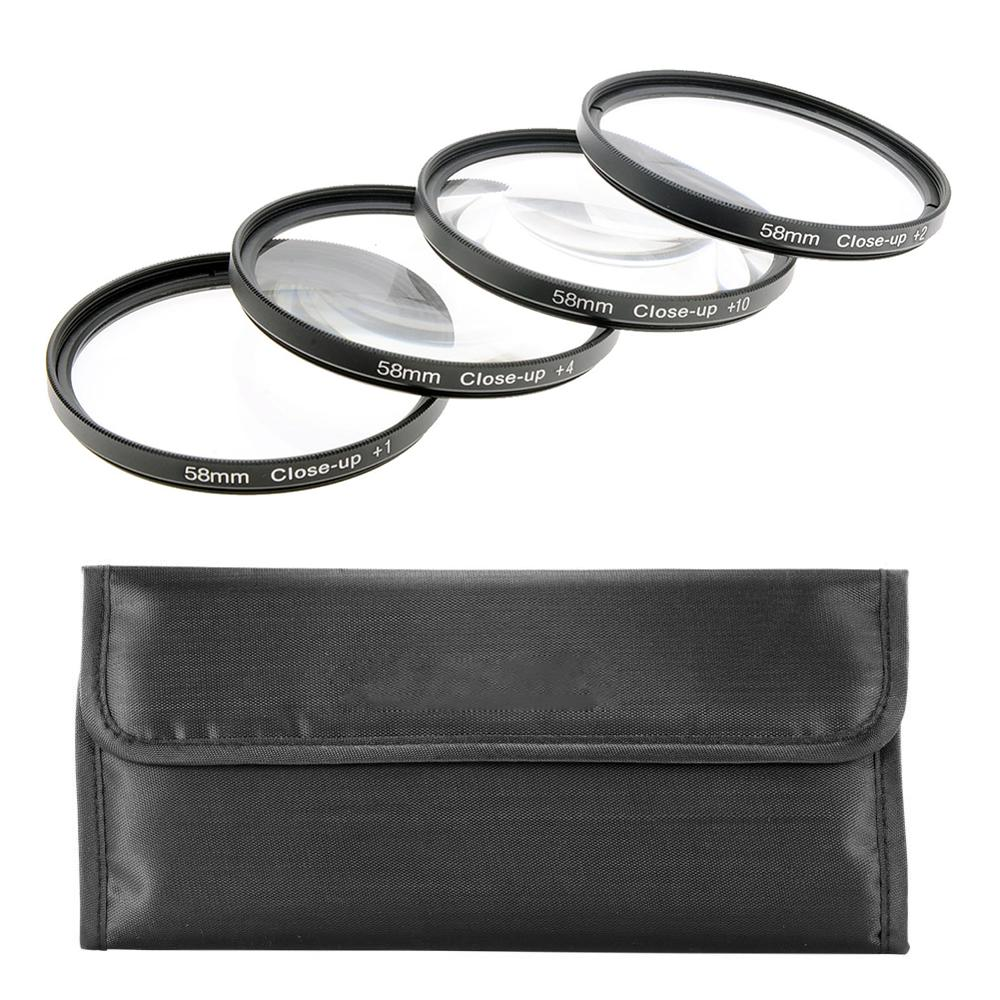 Just Now Close Up(+1/+2/+4/+10)Macro Camera Lens Diopter Filters Set with Case for Canon Nikon Sony DSLR