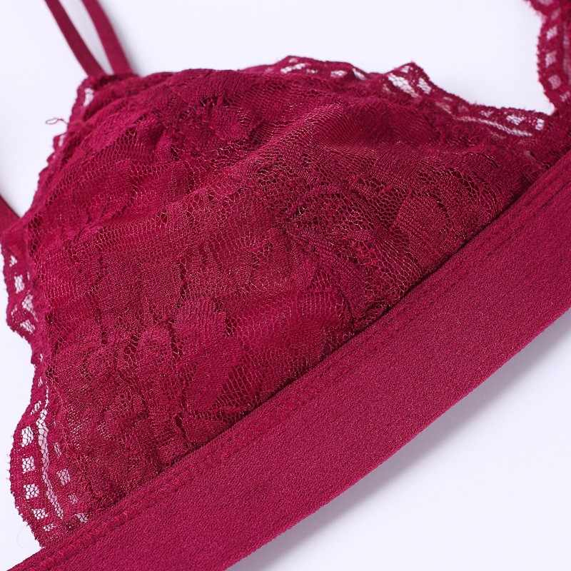 f611185ffd118 ... New Sexy Lace Top Bra Unpadded Bralette Push Up Bra Lingerie Super  Comfortable and Breathable Bras ...